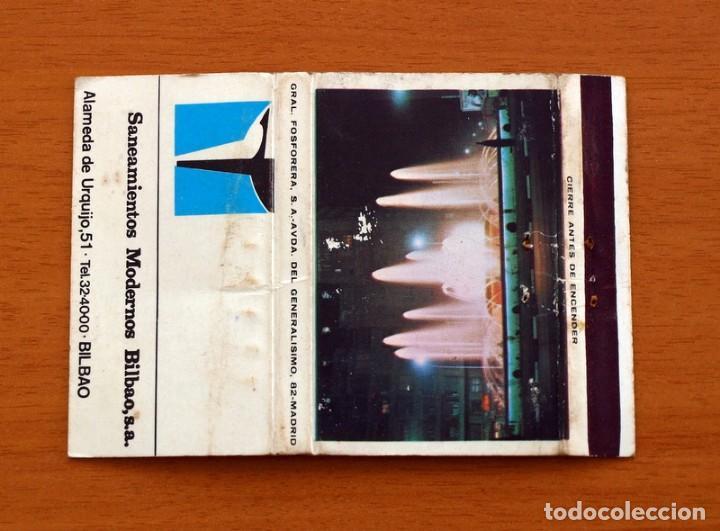SANEAMIENTOS MODERNOS BILBAO S.A. - CARTERÍTA DE CERILLAS - GENERAL FOSFORERAS (Coleccionismo - Objetos para Fumar - Cajas de Cerillas)