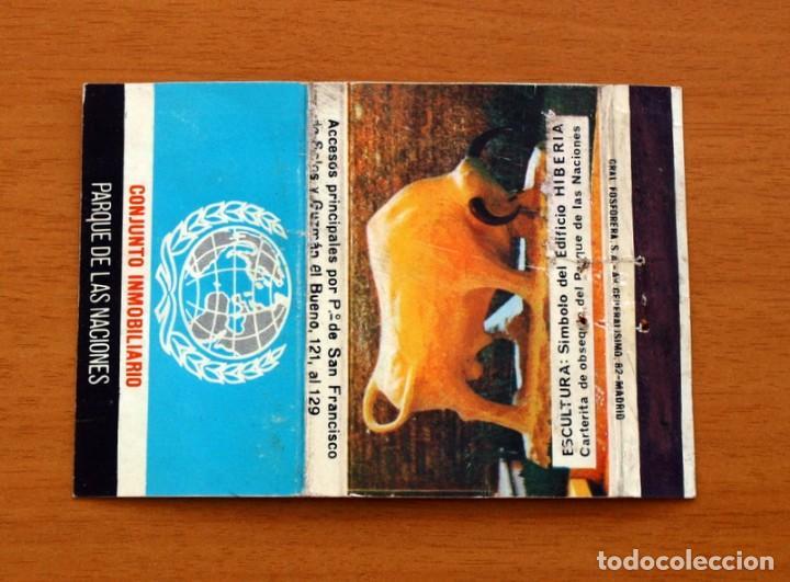 CONJUNTO INMOBILIARIO, PARQUE DE LAS NACIONES - CARTERÍTA DE CERILLAS - GENERAL FOSFORERAS (Coleccionismo - Objetos para Fumar - Cajas de Cerillas)