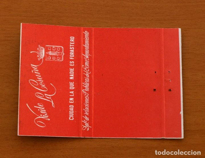 Cajas de Cerillas: La Coruña, ciudad en la que nadie es forastero - Carteríta de cerillas - General Fosforeras - Foto 2 - 156822378