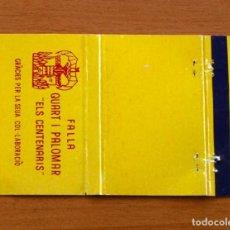 Cajas de Cerillas - Falla Quart I Palomar, Els Centenaris - Carteríta de cerillas - General Fosforeras - 156823090