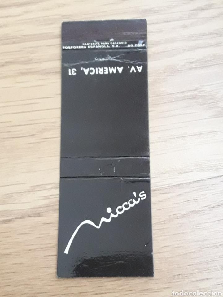 CARTERITA CERILLAS - NICCA'S (Coleccionismo - Objetos para Fumar - Cajas de Cerillas)