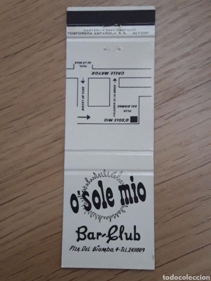 CARTERITA CERILLAS - BAR CLUB O'SOLE MIO (MADRID) (Coleccionismo - Objetos para Fumar - Cajas de Cerillas)