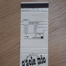 Cajas de Cerillas: CARTERITA CERILLAS - BAR CLUB O'SOLE MIO (MADRID). Lote 156827434