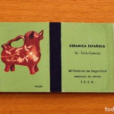 Cajas de Cerillas: CERÁMICA ESPAÑOLA - Nº 16, TORO, CUENCA- CAJA DE CERILLAS - FOSFORERA ESPAÑOLA 1968. Lote 156950326