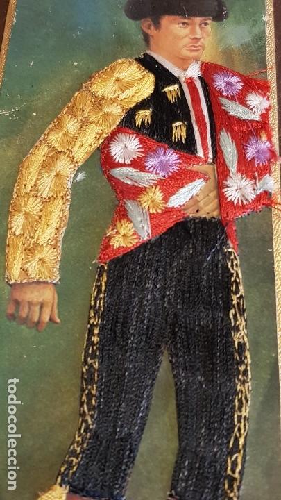 Cajas de Cerillas: ANTIGUO CERILLERO ( ANDORRA ) CON LA FIGURA DE MIGUEL MARQUEZ EN HILO BORDADO / VER FOTOS. - Foto 3 - 157702054
