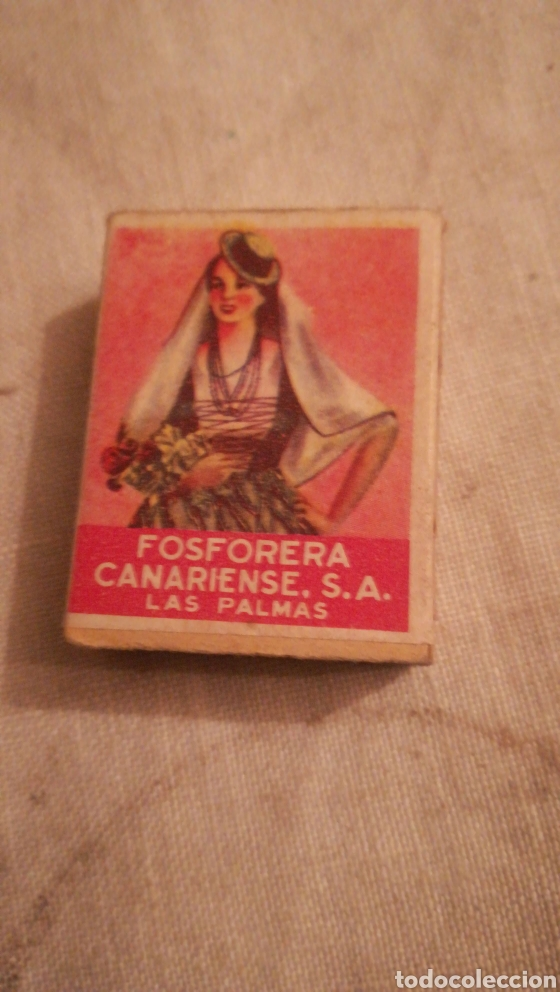 ANTIGUA CAJA DE CERILLAS, FOSFORERA CANARIENSE (Coleccionismo - Objetos para Fumar - Cajas de Cerillas)
