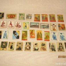 Cajas de Cerillas: ANTIGUO LOTE DE 37 CAJAS DE CERILLAS TODAS DIFERENTES - SIGLO XIX - AÑO 1890-1920S.. Lote 158415982