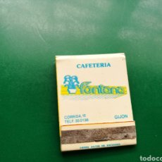 Cajas de Cerillas: ANTIGUA CAJA DE CERILLAS CAFETERÍA FONTANA. GIJÓN ( ASTURIAS). Lote 158796904