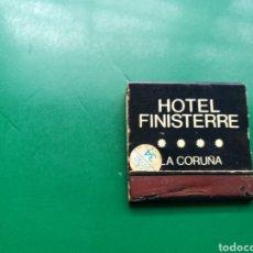 Cajas de Cerillas: ANTIGUA CAJA DE CERILLAS HOTEL FINISTERRE. LA CORUÑA ( GALICIA). Lote 158815289