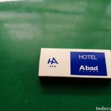 Cajas de Cerillas: ANTIGUA CAJA DE CERILLAS HOTEL ABAD DE TOLEDO. Lote 158821109