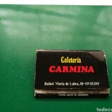 Cajas de Cerillas: ANTIGUA CAJA DE CERILLAS LLENA CAFETERÍA CARMINA. OVIEDO ( ASTURIAS). Lote 158821553