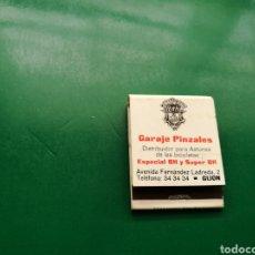 Cajas de Cerillas: ANTIGUA CAJA DE CERILLAS GARAGE PINZALES . GIJÓN ( ASTURIAS). Lote 158822524