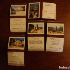 Cajas de Cerillas: 5 ANTIGUAS CAJAS DE CERILLAS - VALLS D'ANDORRA - VACÍAS. Lote 159661498