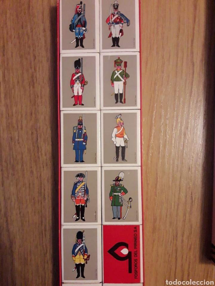 Cajas de Cerillas: ESTUCHE COMPLETO 16 CAJAS CERILLAS - SOLDADOS - Foto 2 - 160366845