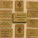 Cajas de Cerillas: ANTIGUA CAJA CERILLAS MONOPOLIO FOSFOROS CERVANTES COMPAÑIA ESPAÑOLA SEGUROS CIª ARENDATARIA. Lote 160615414