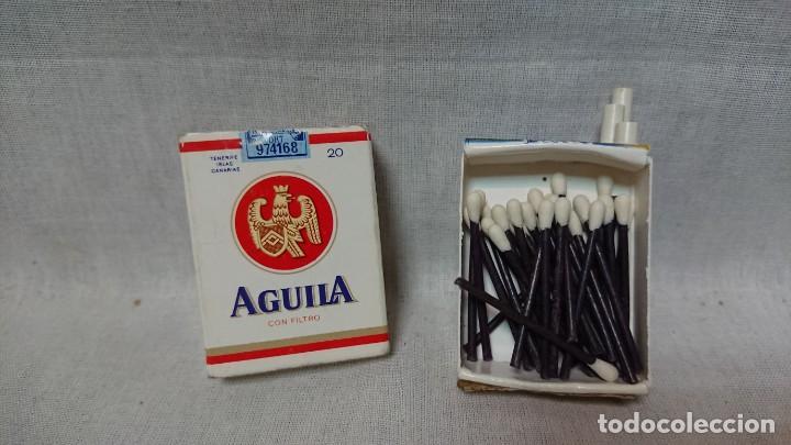CAJA DE CERILLAS CON FORMA PAQUETE DE TABACO PUBLICIDAD AGUILA (Coleccionismo - Objetos para Fumar - Cajas de Cerillas)