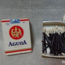 Cajas de Cerillas: CAJA DE CERILLAS CON FORMA PAQUETE DE TABACO PUBLICIDAD AGUILA . Lote 160665610
