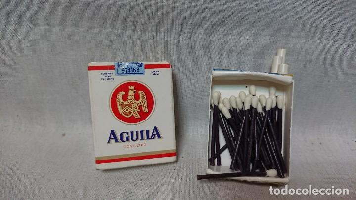 Cajas de Cerillas: CAJA DE CERILLAS CON FORMA PAQUETE DE TABACO PUBLICIDAD AGUILA - Foto 2 - 160665610