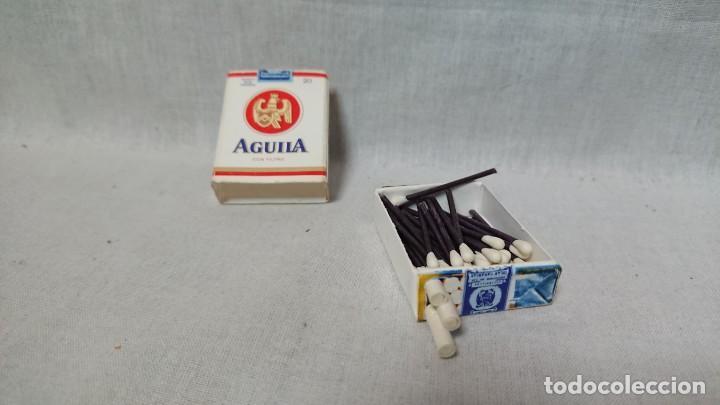 Cajas de Cerillas: CAJA DE CERILLAS CON FORMA PAQUETE DE TABACO PUBLICIDAD AGUILA - Foto 3 - 160665610