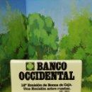 Cajas de Cerillas: CARTERITA DE CERILLAS BANCO OCCIDENTAL . Lote 161308042
