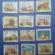 Cajas de Cerillas: 13 CARTONES CAJITAS DE CERILLAS SERIE CASTILLOS DE ESPAÑA FOSFORERA ESPAÑOLA S.A.. Lote 162953954