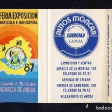 Cajas de Cerillas: CAJA DE CERILLAS DE SOLAPA: XXI FERIA EXPOSICION AGRICOLA VILLAGARCIA AROSA. AUTOS MONCAR. Lote 163080770