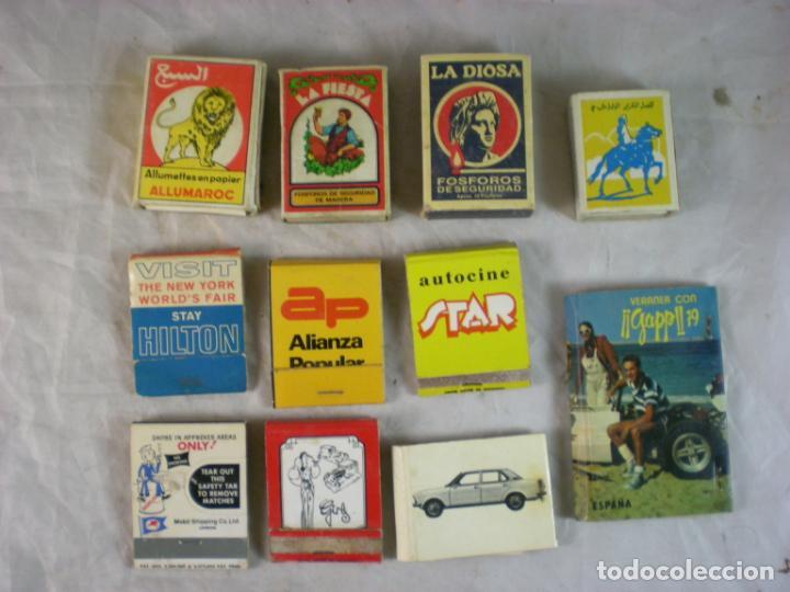 LOTE CAJA CERILLAS X11 (Coleccionismo - Objetos para Fumar - Cajas de Cerillas)