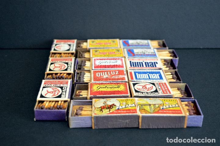 Cajas de Cerillas: LOTE 15 ANTIGUAS CAJAS DE CERILLAS BRASIL COMPLETAS - Foto 5 - 163606846
