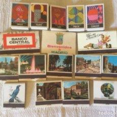 Cajas de Cerillas: LOTE 17 CAJAS DE CERILLAS. FOSFORERA ESPAÑOLA. ZODIACO, CIUDADES Y MONUMENTOS, MADRID, BANCO CENTRAL. Lote 163880214