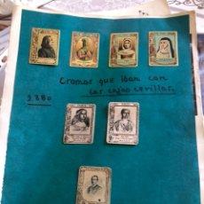 Cajas de Cerillas: LOTE DE CROMOS DE CAJAS DE CERILLAS SIGLO XIX. Lote 164915156