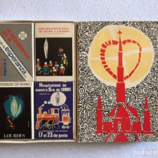 Cajas de Cerillas: ESTUCHE DE 4 CAJAS DE CERILLAS - HOSPITALIDAD DE NUESTRA SEÑORA DE LOURDES. AÑO 1974.. Lote 165192441