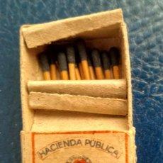 Cajas de Cerillas: DOS CAJAS DE CERILLAS MUY ANTIGUAS - HACIENDA PÚBLICA , MONOPOLIO DE CERILLAS Y FÓSFOROS. Lote 165385686