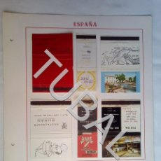 Cajas de Cerillas: TUBAL CARTERITA CERILLAS BAR HOTEL RIBOT VILOBI D'ONYAR GERONA CAJA. Lote 165396546