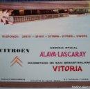 Cajas de Cerillas: CITROEN - ALAVA - LASCARAY - VITORIA - ¡CAJA DE CERILLAS PLANCHA!. Lote 165428882
