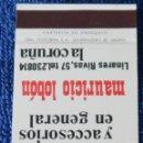 Cajas de Cerillas: CIMSON - LA MEJOR - ¡CAJA DE CERILLAS PLANCHA!. Lote 165429002