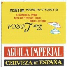 Cajas de Cerillas: AGUILA IMPERIAL - CERVEZA DE ESPAÑA - ¡CAJA DE CERILLAS PLANCHA!. Lote 165528022