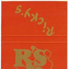 Cajas de Cerillas: DISCOTECA RICKY'S - SITGES - ¡CAJA DE CERILLAS PLANCHA!. Lote 165528110