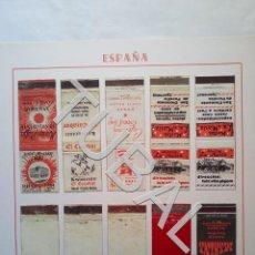 Cajas de Cerillas: TUBAL CAJA CARTERITA CERILLAS HOTELES Y BARES DE ROSAS LOTAZO 10 DIFERENTES . Lote 166796666