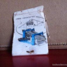 Cajas de Cerillas: TALLERES UNIDOS( ZARAGOZA ) CRIBAS VIBRANTES ROL. Lote 168244542