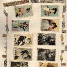 Cajas de Cerillas: PANELES FRONTALES CAJAS DE CERILLAS ORIGINALES SIGLO XIX. Lote 169584724