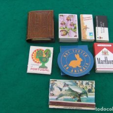 Caixas de Fósforos: LOTE DE 8 CAJAS DE CERILLAS VARIADA, FORMATO CAJA Y LIBRITO. MARLBORO, TIO PEPE, POUSADAS,MARINELAND. Lote 170455336