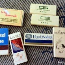 Cajas de Cerillas: LOTE CAJAS DE CERILLAS HOTELES. Lote 171174380