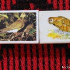 Cajas de Cerillas: DOS CAJETILLAS DE CERILLAS DE PAJAROS. Lote 172958370