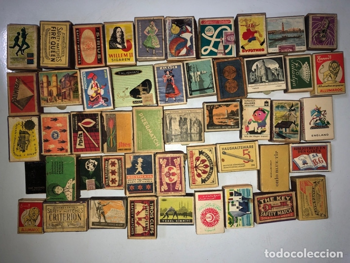 LOTE 50 CAJAS DE CERILLAS. AÑOS 60-70. 70% LLENOS, 30% VACIOS APROXIMADAMENTE. (Coleccionismo - Objetos para Fumar - Cajas de Cerillas)