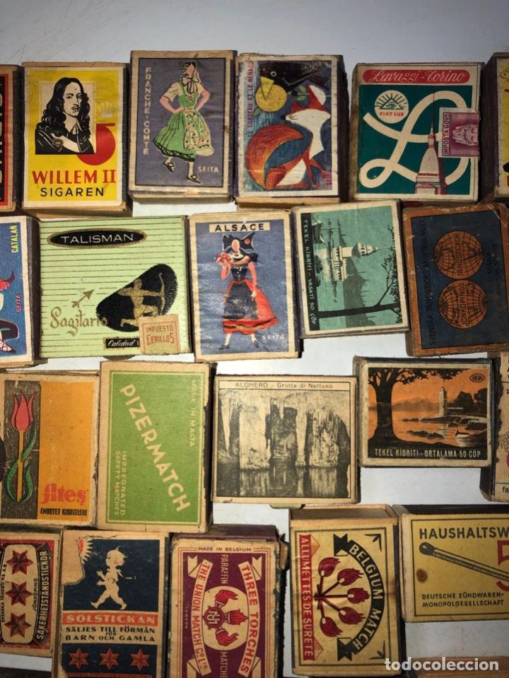 Cajas de Cerillas: LOTE 50 CAJAS DE CERILLAS. AÑOS 60-70. 70% LLENOS, 30% VACIOS APROXIMADAMENTE. - Foto 3 - 175017898
