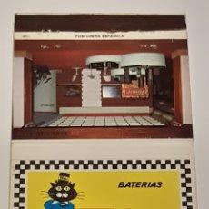 Cajas de Cerillas: CARTERITA GRANDE CERILLAS - BATERÍAS TUDOR. Lote 175153474