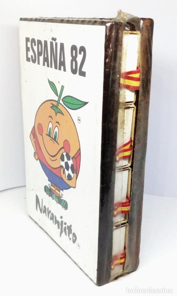 Cajas de Cerillas: ESTUCHE EN MADERA CON 8 CAJAS DE CERILLAS ESPAÑA 82 NARANJITO - Foto 2 - 174187278