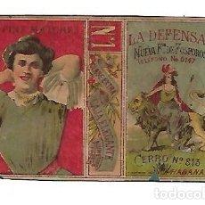 Cajas de Cerillas: CUBA. SIGLO XIX. CAJA DE CERILLAS. LA DEFENSA. Nº 1. FINE MATCHES. VER. Lote 176053829