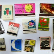 Cajas de Cerillas: LOTE 50 CAJAS DE CERILLAS. PUBLICITARIA AÑOS 60-70. LLENAS TODAS. VER FOTOS.. Lote 176884945