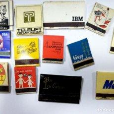 Cajas de Cerillas: LOTE 43 CAJAS DE CERILLAS. PUBLICITARIA AÑOS 60-70. LLENAS TODAS. VER FOTOS.. Lote 176885908